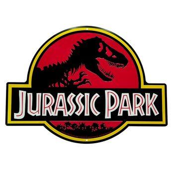 Placa metálica Jurrasic Park - Logo