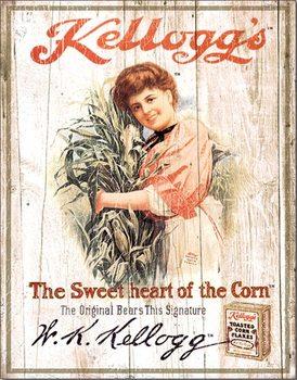 Placa de metal Kellogg's Sweetheart