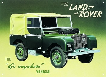 Placa de metal LAND ROVER SERIES 1