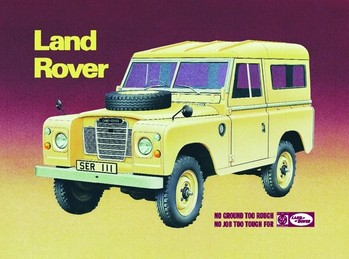 Placa de metal LAND ROVER SERIES 3