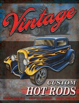 Placa de metal Legends - Vintage Hot Rods