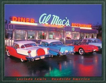 Placa de metal Lewis - Al Mac Diner
