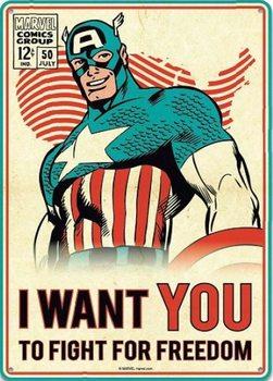 Placa de metal  Marvel - Captain America