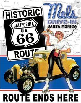 Placa de metal  Mel's Diner - Route 66