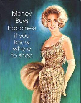 Placa de metal  Money Buys Happiness