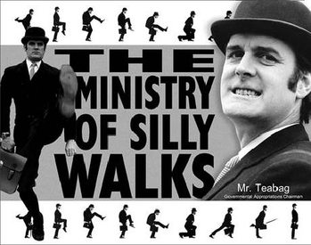 Placa de metal MONTY PYTHON - Ministry Of Silly Walks