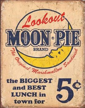 Placa de metal MOON PIE - Best lunch