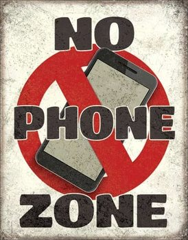 Placa de metal  No Phone Zone