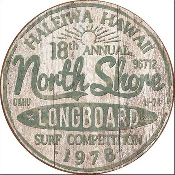 Placa de metal North Shore Surf