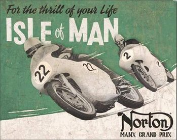 Placa de metal NORTON - Isle of Man