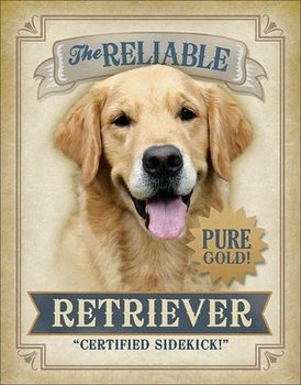 Placa Metálica Reliable Retriever