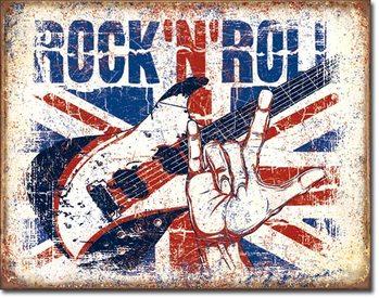 Placa de metal Rock n Roll