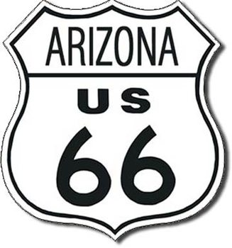 Placa de metal ROUTE 66 - arizona