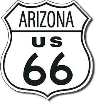 Placa de metal ROUTE 66 - arizona