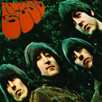 Placa de metal RUBBER SOUL ALBUM COVER