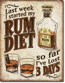 Placa de metal Rum Diet