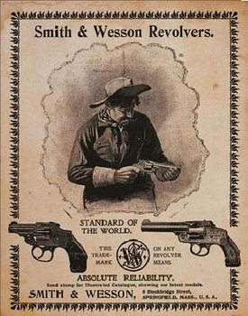 Placa de metal S&W - standard of the world