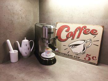 Placa de metal SCHOENBERG - coffee scents