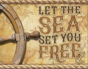 Placa de metal Sea - Set You Free