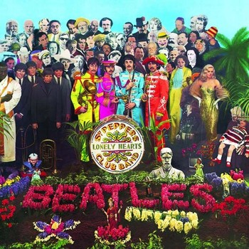 Placa de metal SGT. PEPPERS LONELY HEARTS ALBUM COVER
