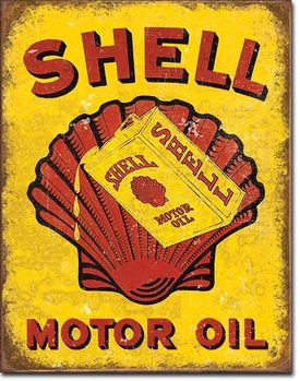 Placa de metal Shell Oil - Can