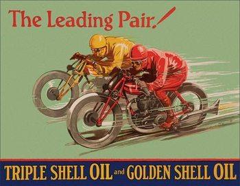 Placa de metal Shell - Winning Pair