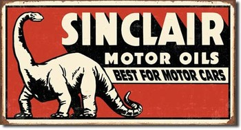 Placa de metal  SINCLAIR DINOSAUR