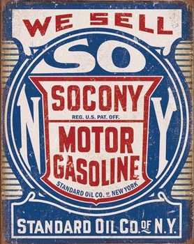 Placa de metal Socony Gasoline