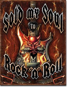 Placa de metal  Sold Soul to Rock n Roll