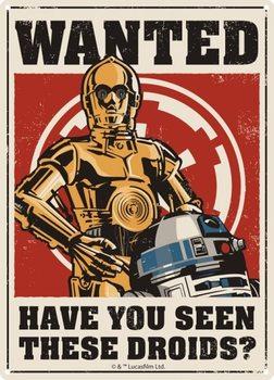 Placa de metal  Star Wars - Droids