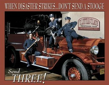 Placa de metal Stooges Fire Dept.