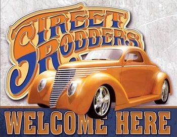 Placa de metal Street Rodders Welcome