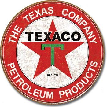 Placa de metal TEXACO - The Texas Company
