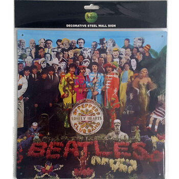 Placa de metal The Beatles - Sgt Pepper