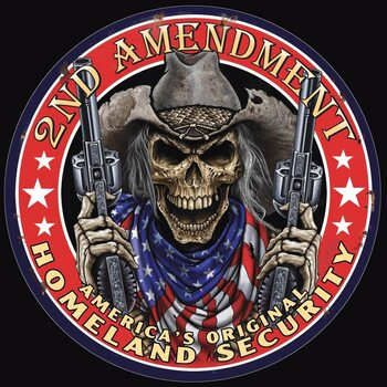 Placa metálica Tin Sign -2nd Amendment
