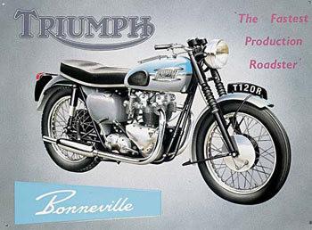 Placa de metal TRIUMPH BONNEVILLE