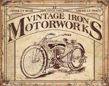 Placa de metal VINTAGE IRON MOTORWORKS