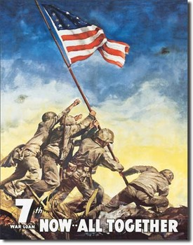 Placa de metal  WAR BONDS - iwojima