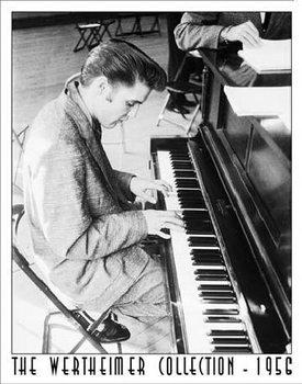 Placa de metal WERTHEIMER - ELVIS PRESLEY - Playing Piano
