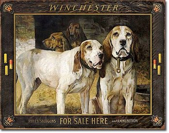 Placa de metal  Winchester - For Sale Here