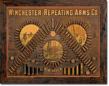 Placa de metal Winchester - Repeating Arms