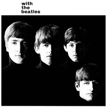 Placa de metal WITH THE BEATLES ALBUM COVER