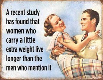 Placa metálica Women Live Longer