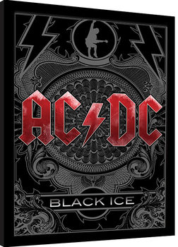 Framed poster AC/DC - Black Ice