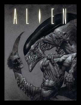 Aliens - Head on Tail Framed poster