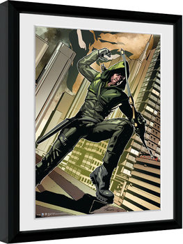Framed poster Arrow - Cover Green