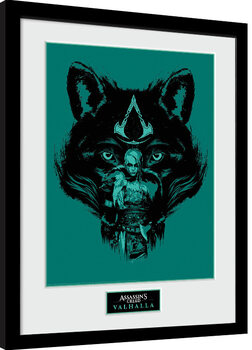 Framed poster Assassin's Creed: Valhalla - Wolf