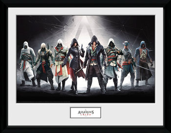 Framed poster Assassins Creed - Characters
