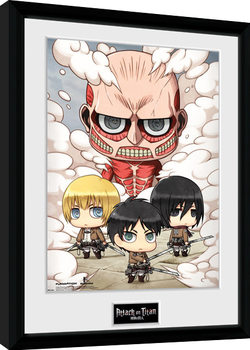 Attack On Titan - Chibi Group Framed poster