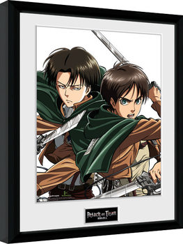 Framed poster Attack On Titan - Levi